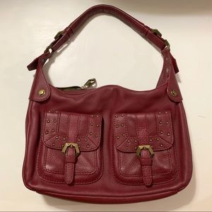 Handbags - Red Leather Shoulder Bag